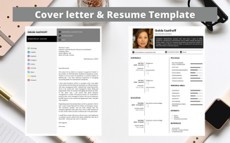 Professional No 04 - Modern Monochrome Resume Template