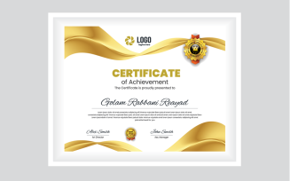 Gold & Black Certificate