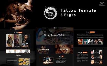 Tattoo Temple - Tattoo Studio Elementor Kit