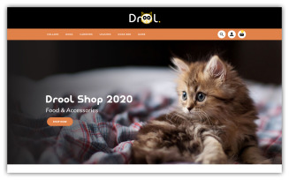 Drool Pet store OpenCart Template