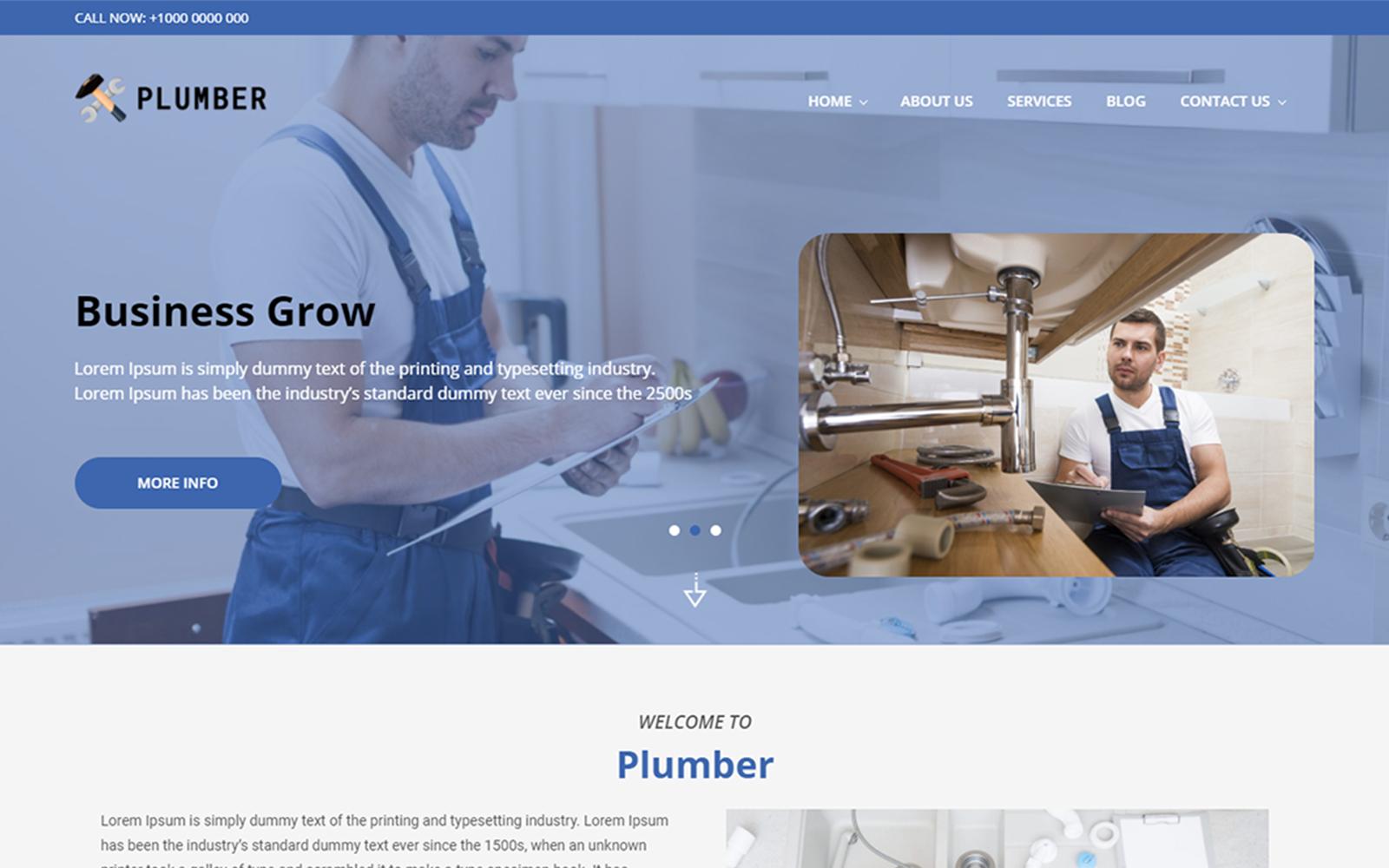 Plumber WordPress Theme Tema WordPress №164976