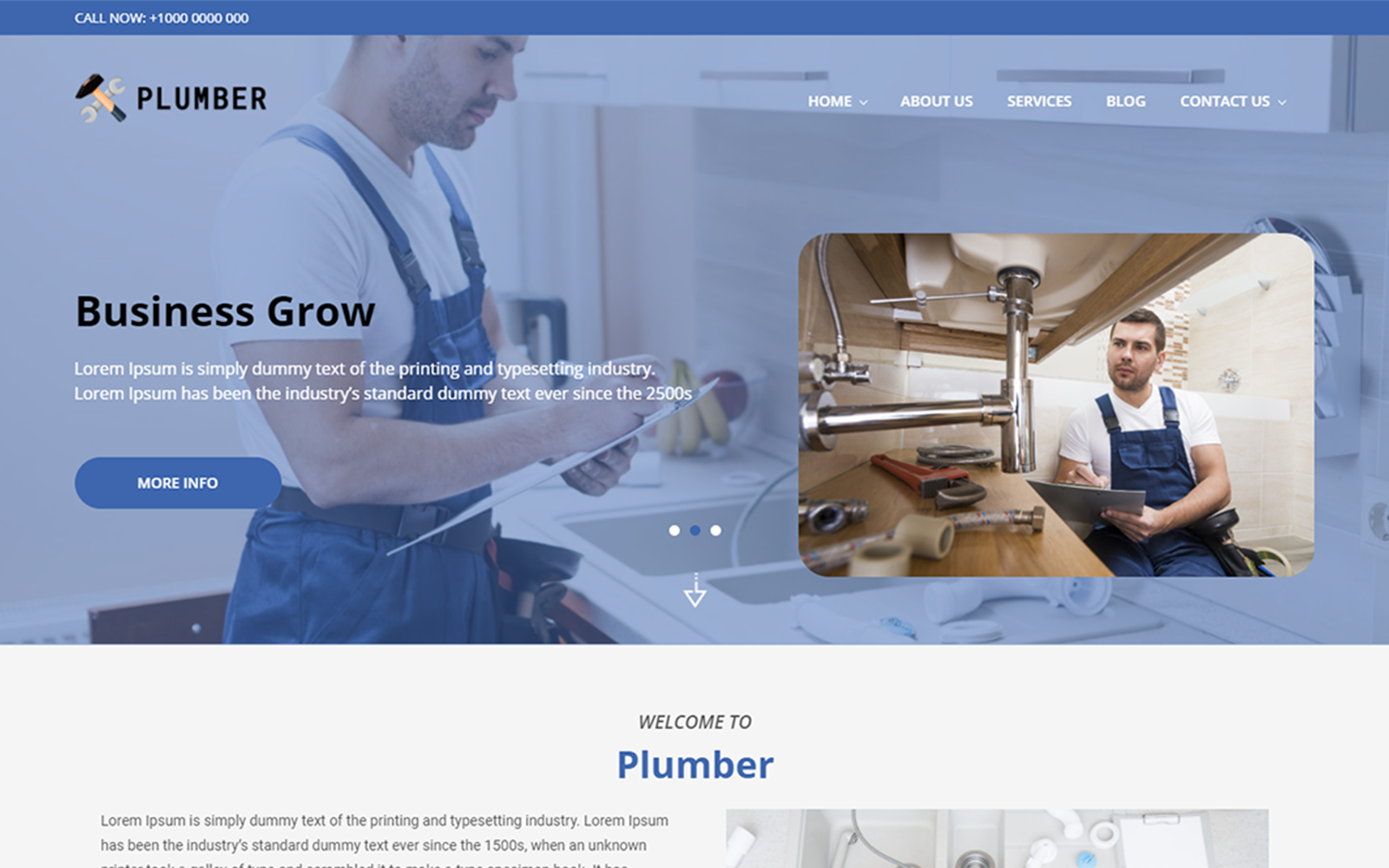 Plumber WordPress Theme WordPress sablon 164976