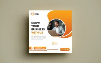 Free Business Grow Social Media Banner Post Template.