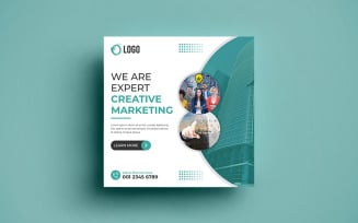 Marketing Social Media Banner Post Template.