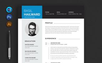 Basil Hailward Resume Template