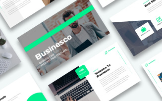 Free Business Case Presentation PowerPoint template