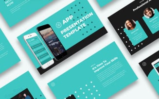 Free App Presentation PowerPoint template