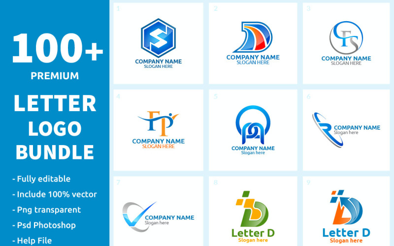 100+ Letter Logo Bundle Logo Template