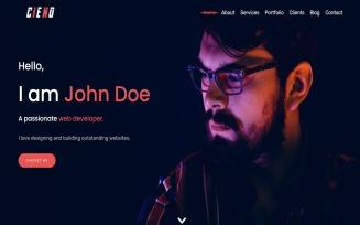 Cieno - Creative Bootstrap 4 personal Portfolio Landing Page Template