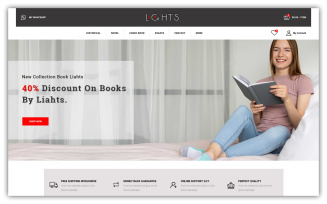 Lights - Book Store OpenCart Template