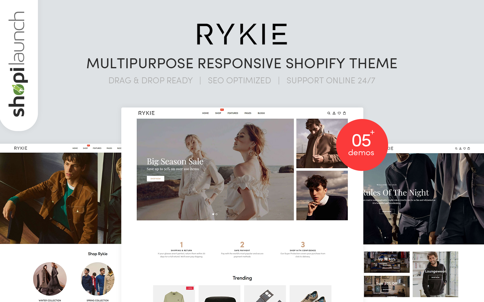 Rykie - Multipurpose Responsive Shopify Theme