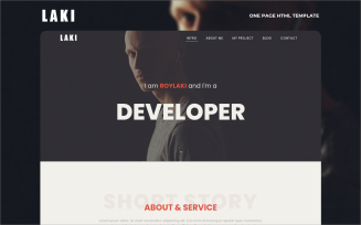 Laki - One page Multipurpose Personal Html Landing Page Template