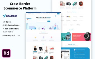 Boxigo - Cross Border Ecommerce Platform UI Elements
