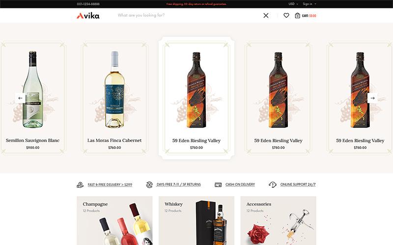 """""""Avita - Multi-purposes WooCommerce Theme"""" Responsive WooCommerce Thema №165519"""