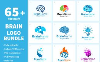 65+ Brain Logo Bundle