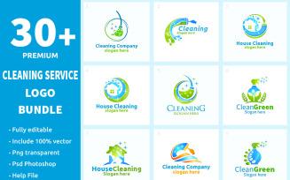30+ Cleaning Service Logo Bundle