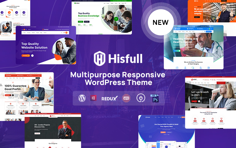 """Hisfull - Multipurpose Responsive WordPress Theme"" Responsive WordPress thema №165531"