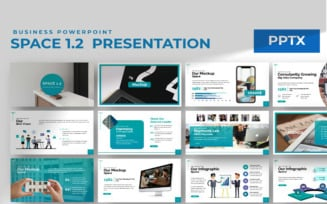 Space Business Presentation PowerPoint Template