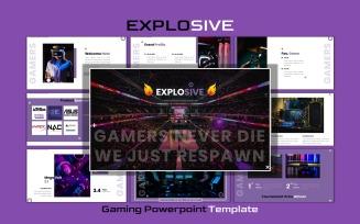 Explosive - Esport Gaming Google Slides Template