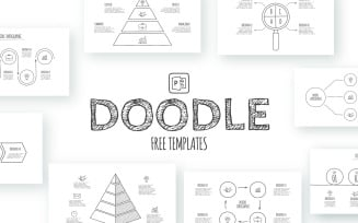 Free Doodle Animated Infographics PowerPoint template