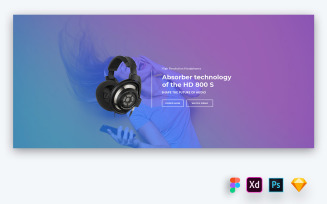 Hero Header for Product Promotion Websites