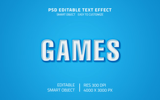 Editable Games Style Text Effect PSD Template