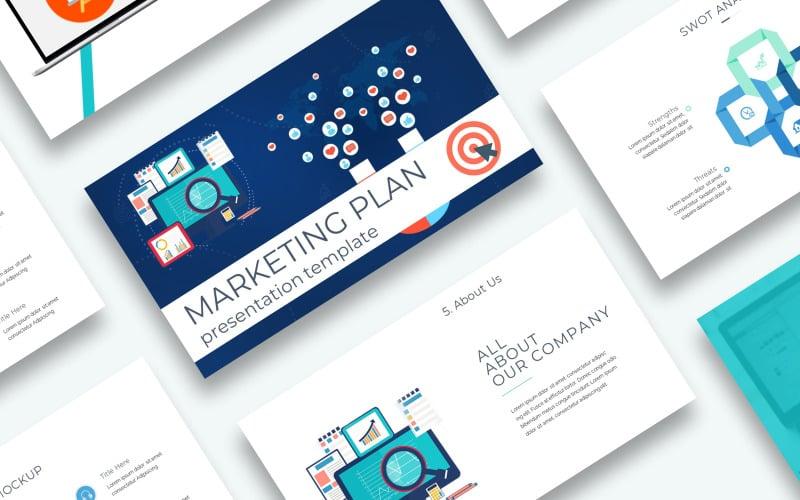 Free Marketing Plan Presentation Powerpoint template PowerPoint Template