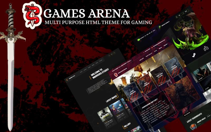 Games Arena -  Multipurpose Gaming Theme