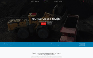 Service Provider - HTML5 responsive website template