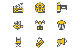 Cinema and Filming Free Iconset Template