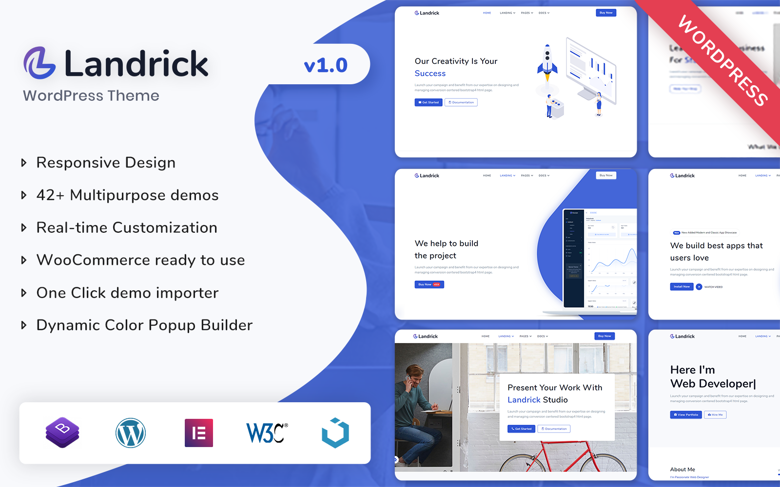 """Landrick - Multipurpose WordPress Theme"" Responsive WordPress thema №165928"