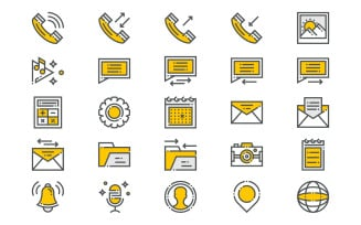 Mobile Applications Icons Set