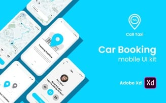 Taxi Booking App UI Kit for Adobe XD