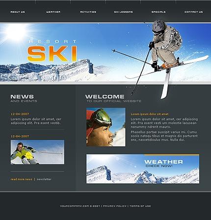 Propriul site statiune de schi