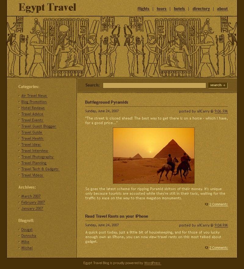 Útikalauz WordPress sablon 16623 - képernyőkép