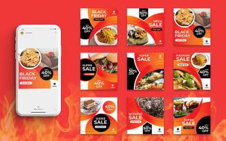 Free Restaurant Food Social Media Post Template