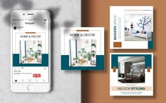 Furniture Banner Instagram Post Social Media Template