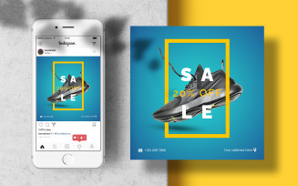 Men Shoes Instagram Template Banner Post Social Media Template