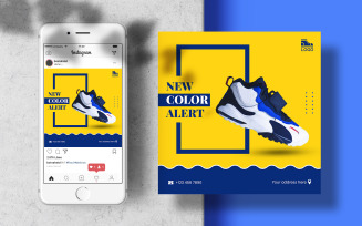 Men Sport Shoes Instagram Post Banner Social Media Template