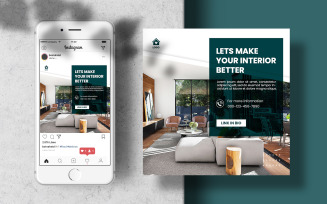 Furniture Social Media Post Template Banner Social Media Template