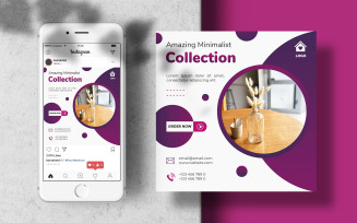Instagram Feed for Interior Design and Furniture Design Social Media Template
