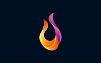 Fire Colorful Vector Logo Illustration Template Logo Template