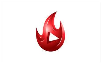 Flame Video Vector Logo