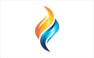 Flame Water Vector Logo
