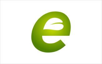Letter E Leaf Vector Logo