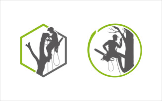 Woodcutter Vector Logo