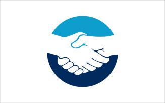 Hands Shake Vector Logo