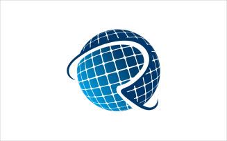 R Globe Vector Logo