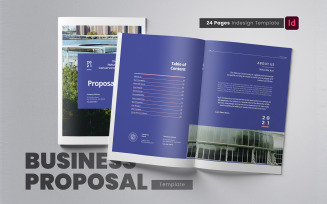 Business Project Proposal Indesign Template Corporate Identity Template