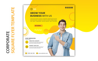 Free Corporate Square Flyer